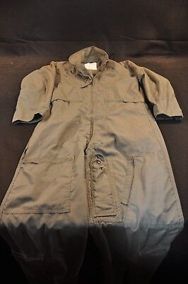 Coveralls Flyer's Summer Fire Resistant 40R Flight Suit CWU-27/P Sage Green A81