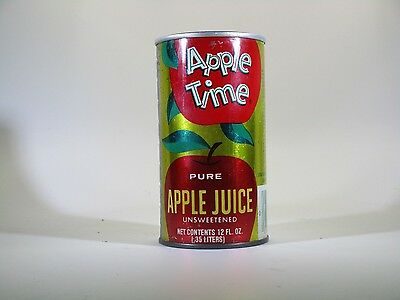Apple Time Pure Apple Juice 12oz Pull Tab Can