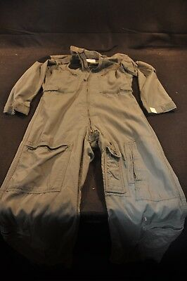 Coveralls Flyer's Summer Fire Resistant 38R Flight Suit CWU-27/P Sage Green A84