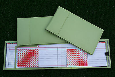 Miclub Green leather golf autoscore card holder - Original and still the Best