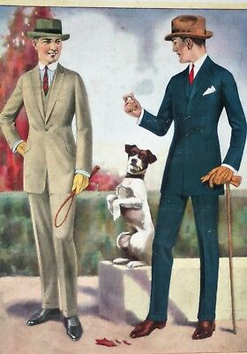 National Tailoring Co Chicago Fall Winter 1922 18 Color Illustrations with Dogs