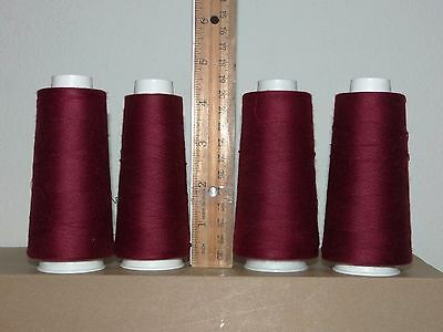 4 Maxi Lock Sewing Thread Red Currant Polyester ( Used )