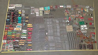 Train Set Mix Lot Rail Tracks Transformers Buildings Bachman Lionel Tyco + More