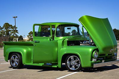 1956 Ford F-100 Short Wheel Base Pro Touring Show Winner 1956 Ford F100 Short Wheel Base Custom Pro Touring Frame Off 125k Build Flawless