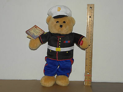 Chantilly Lane Musicals American Military Heroes Bear Plush w/Tag  Marines' Hymn