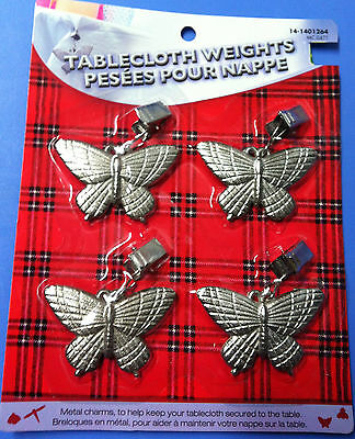 two tablecloth weights-tablecloth wont fly anymore in your back yard for 2 tabes