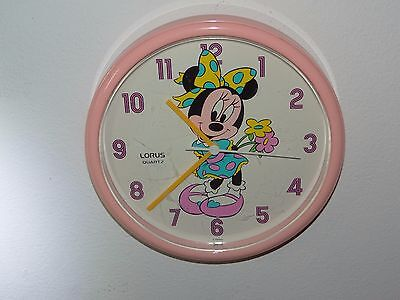 Lorus Quartz Walt Disney Minnie Mouse Pink Wall Clock