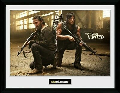 NEW The Walking Dead (Rick & Daryl)  Officially Licensed Framed Wall Art 30x40cm