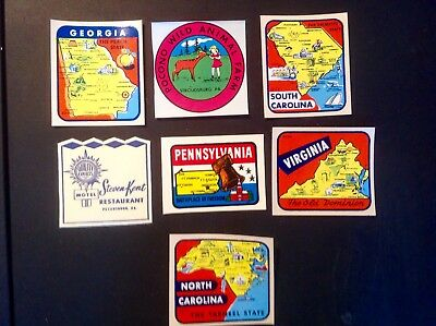 Vintage Travel Stickers Lot