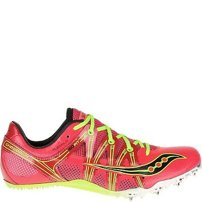 (7 B(M) US, Coral | Citron) - Saucony Women's Showdown Spike Shoe. Free Delivery
