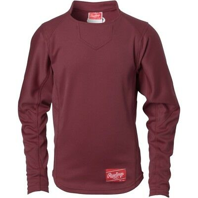 (Small, Navy|Scarlet) - Rawlings Youth Dugout Fleece Pullover. Shipping is Free