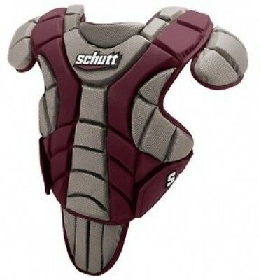 (46cm , Maroon) - Schutt Sports Scorpion Chest Protector for Baseball, Maroon,