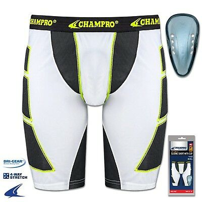 (XX-Large, White) - CHAMPRO ADULT MENS BASEBALL SLIDING SHORT WITH CUP BPS12C A