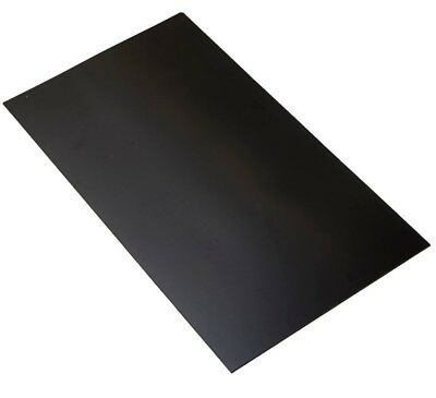 1.5mm HIGH IMPACT POLYSTYRENE BLACK 610x410mm Vacuum Forming Plastic HIPS Panel