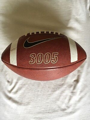 Authentic Nike 3005 Collegiate Leather Game Ball Small Girth