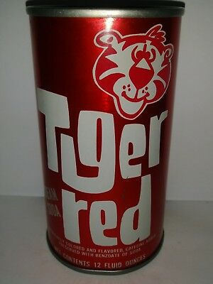 Tiger Red Cream Pull Tab Soda Can - St. Louis, Mo!!!!