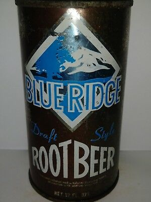 Blue Ridge Root Beer Flat Top Soda Can - St.louis, Mo!!!