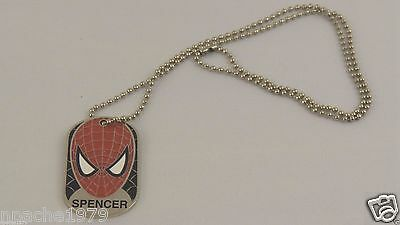 "Universal Studios Dog Tag & Chain Marvel's Spiderman Super Hero ""Spencer"""