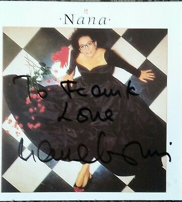 Nana Mouskouri Autograph Signed Insert Only - No CD 1987 Rare!