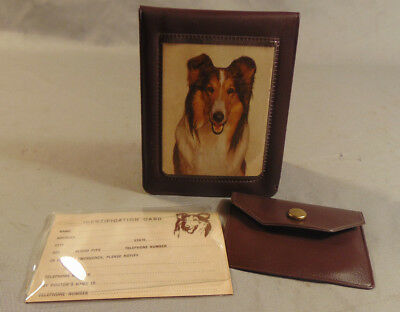 Vintage LASSIE Get Up And Go Club Childs Plastic Wallet w/ Insert RARE 1950's