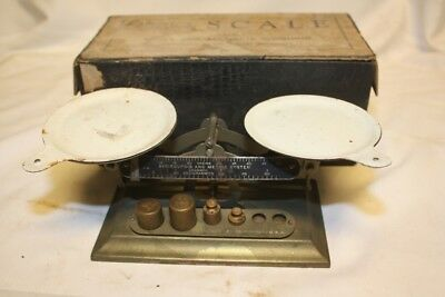 Antique Vintage Balance Scale Pelouze Avoirdupois & Metric System
