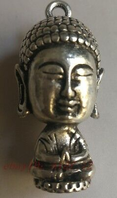 Collection of exquisite hand-carved Tibetan silver Buddha pendant