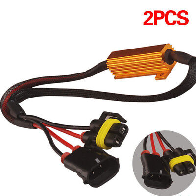 H8 H11 LED DRL Fog Light Canbus 50W Load Resistor Error Free Decoders Cancellers