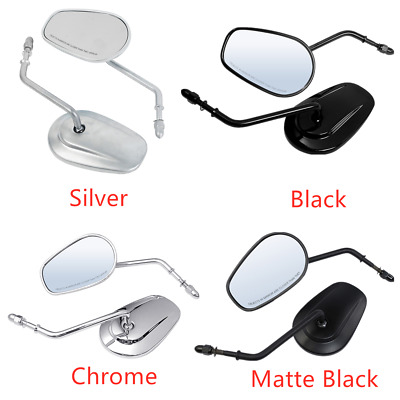 8mm Rearview Side Mirror Fit For Harley Davidson XL1200L XL883 XL883L Sportster