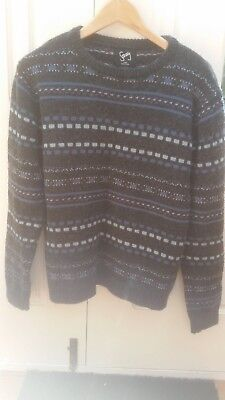 Mens wool acrylic sweater large