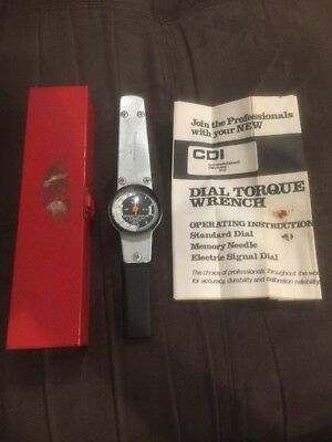 Vintage CDI Dial Torque Wrench 5120-00-230-6380 1972
