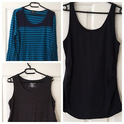 Maternity Singlet And Top 3 Piece Bundle - Size Large