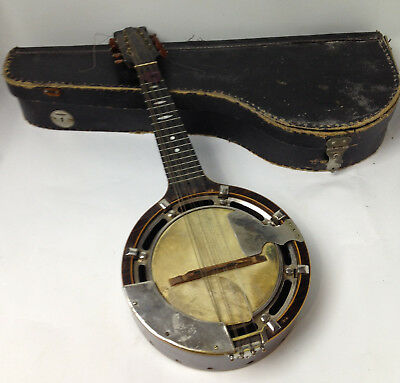 Antique Banjo Ukulele ( banjolin ) 8 stringed ' The WINDSOR Model L '