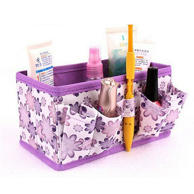 Makeup Cosmetic Storage Box Bright Organiser Foldable Stationary Container 1