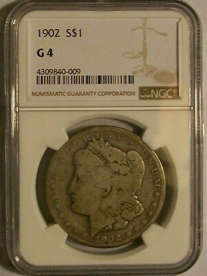 1882 And 1902 Morgan Silver Dollar Both  LOW BALL G 4 NGC Certified