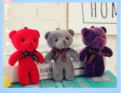 Cute Soft Plush Stuffed Mini Ribbon Teddy Bear Toys for Bouquet Valentine's Doll