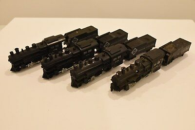 4 American Flyer 4-4-0 Steam Locomotives for parts or restoration