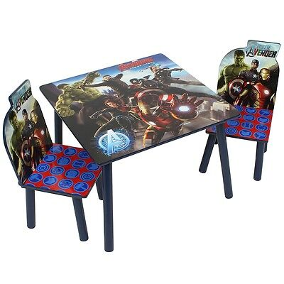 Marvel Avengers Table and Chairs Set, Kids Indoor / Outdoor Dining 2 Seat Set