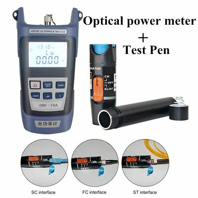 Fiber Optical Power Meter And 10-12km 10mW Visual Fault Locator Cable Tester AU