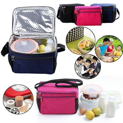 Durable Thermal Cooler Insulated Lunch Box Tote Storage Picnic BBQ Bag Travel OB