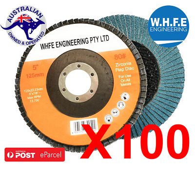 5'' 125MM Metal Sanding Flap Discs Angle Grinder Wheels 40/60/80/120 grit