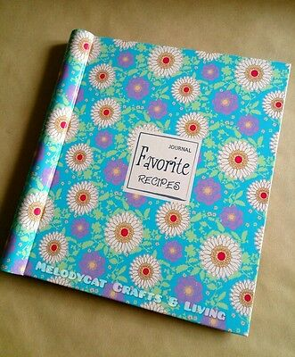 """Favorite!"" Blank Recipe Journal Food Diary - Aqua"