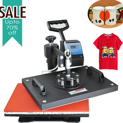 8in1 Heat Press Machine Digital T-Shirt Mug Hat PlateCap Transfer Sublimation CA