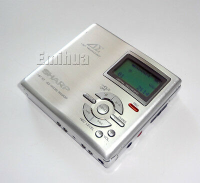 Tested Minidisc Sharp MD-DR7-S Auvi Portable MD Recorder Walkman w/LCD Control