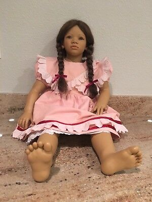 """Rare Annette Himstedt 29"""" LONA Doll 1993/1994 Children of the World Collection"""