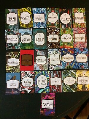 Starbucks Reserve Taster Tasting Card Lot 25 Different Cards.