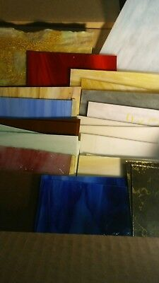 12 x 10 box Stained Glass variety of colors #8