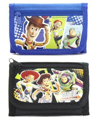 Disney Toy Story Black Blue Boy's Tri-Fold Wallet