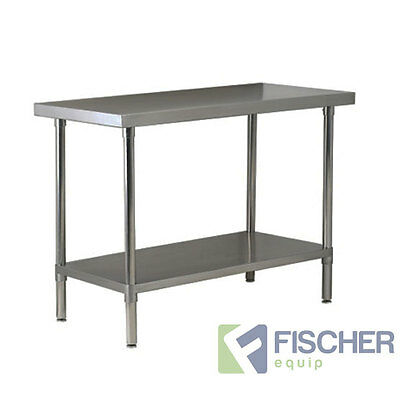 1524mm x 760mm NEW STAINLESS STEEL #430 GRADE KITCHEN BENCH -CATERING WORK TABLE