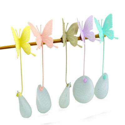 Butterfly Tea Bags Strainers Silicone Teaspoon Filter Infuser Silica Teabags