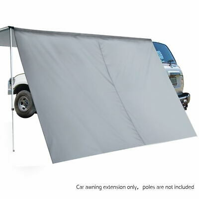 NEW 2X3M Waterpoof Side Roof Car Awning Extension with UV Protection - Grey